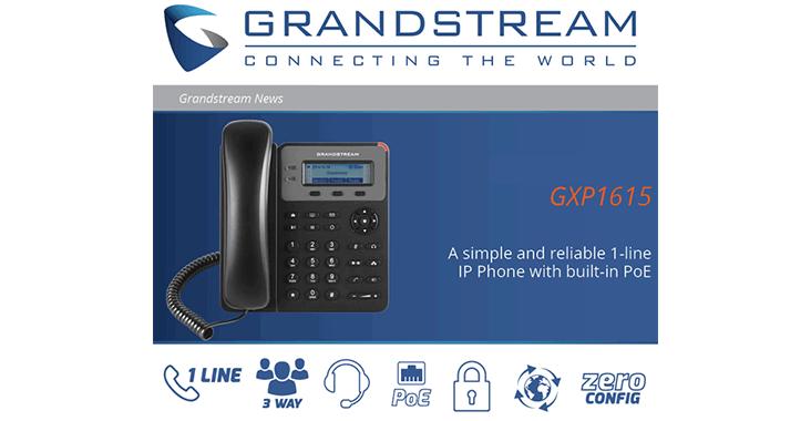 محصول جدید گرنداستریم (تلفن تحت شبکه GXP1615)